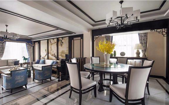凤鸣湖公寓187平米大户型中式风格装修效果图