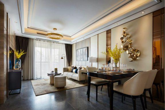 阳光城丽湾景两室两厅90平混搭装修效果图