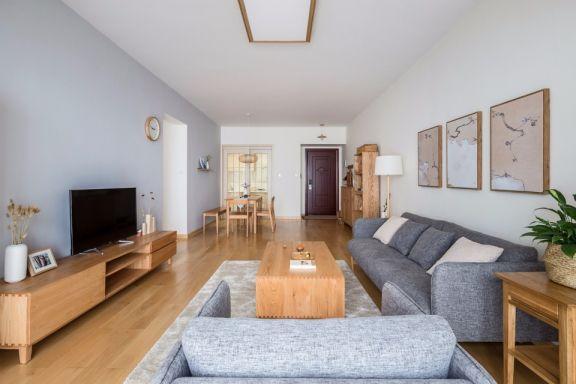 日式风格90平米两室两厅室内装修效果图