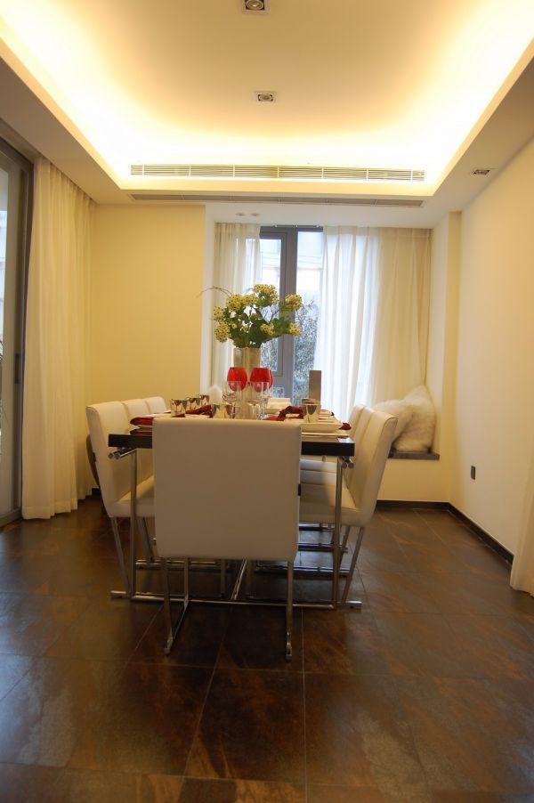 蓝蝶苑120平现代简约三居室装修效果图