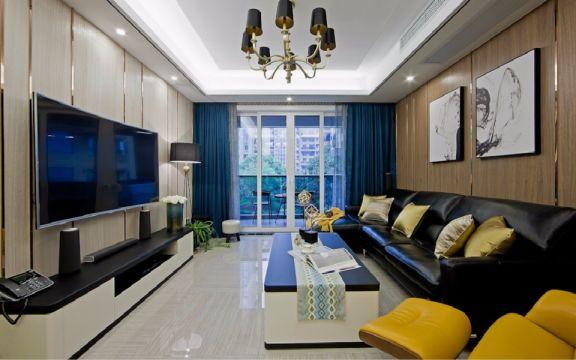 现代风格90平米2房2厅房子装饰效果图