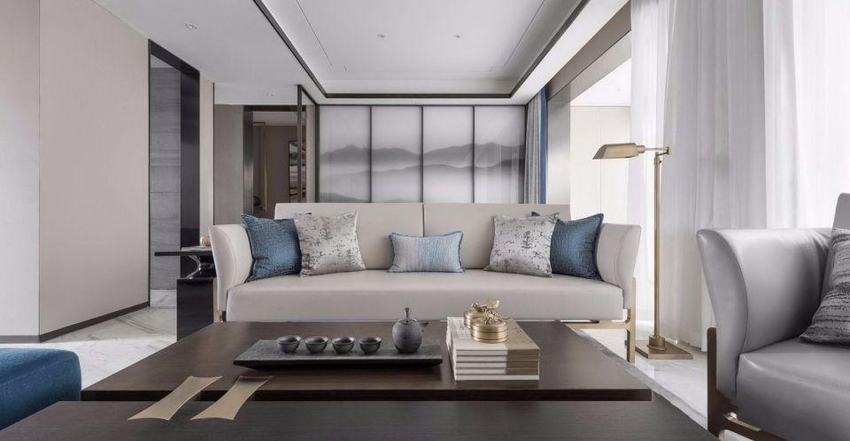 新中式风格200平米复式室内装修效果图