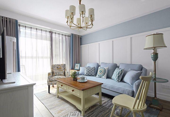 田园风格90平米两室两厅室内装修效果图