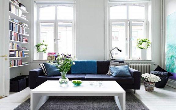 北欧风格58平米一室两厅室内装修效果图