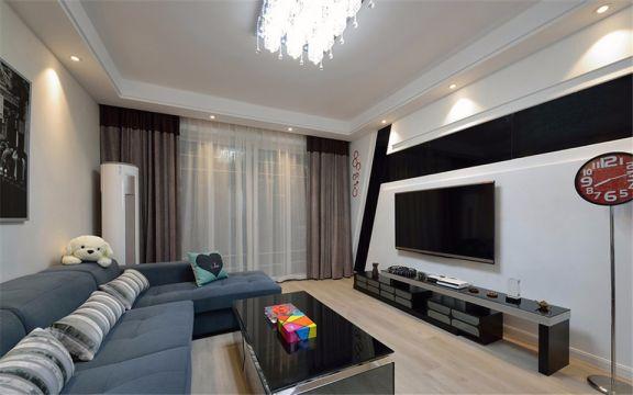 现代简约风格95平米小户型室内装修效果图