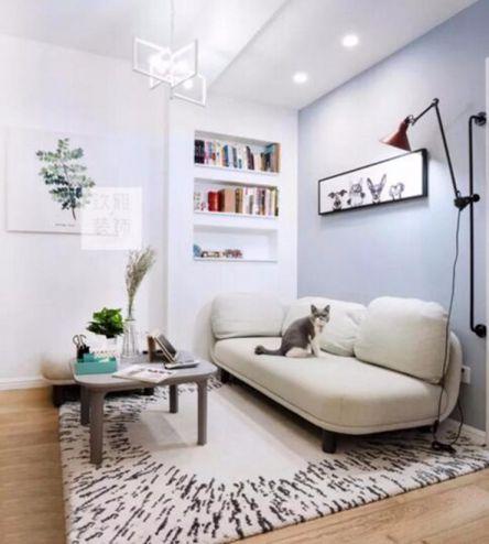 60平北欧风格两居室装修效果图