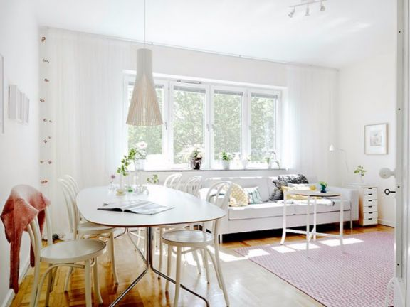 北欧风格100平米2房2厅房子装饰效果图