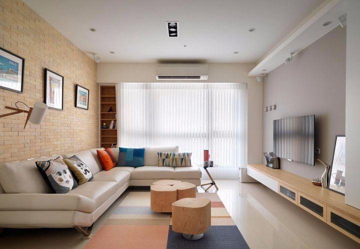 北欧风格90平米3房2厅房子装饰效果图