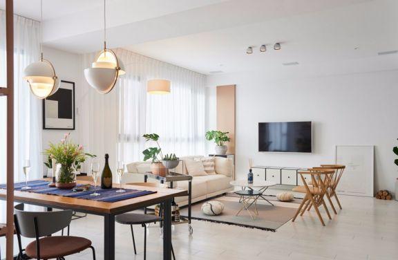 2021北欧150平米效果图 2021北欧三居室装修设计图片