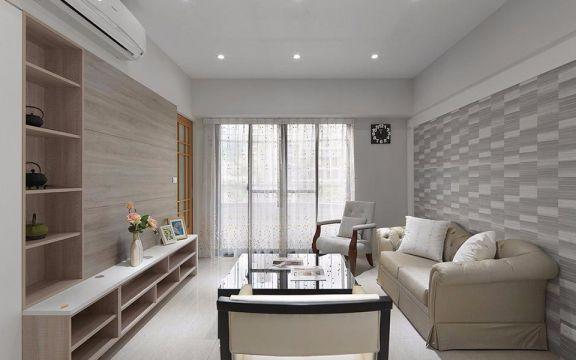 现代风格93平米三室两厅新房装修效果图