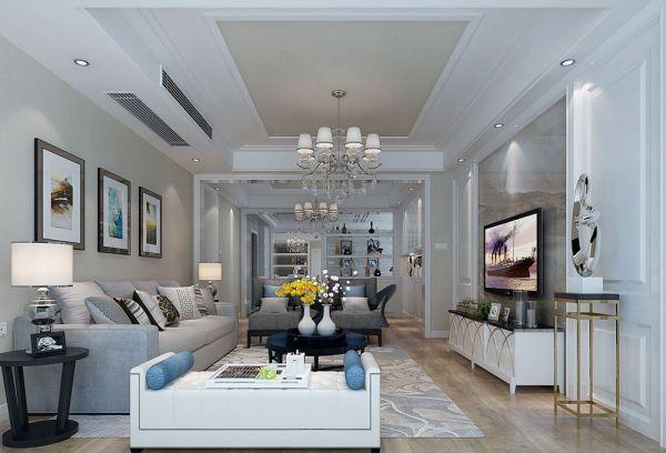 万科魅力240平米五居室后现代风格装修效果图