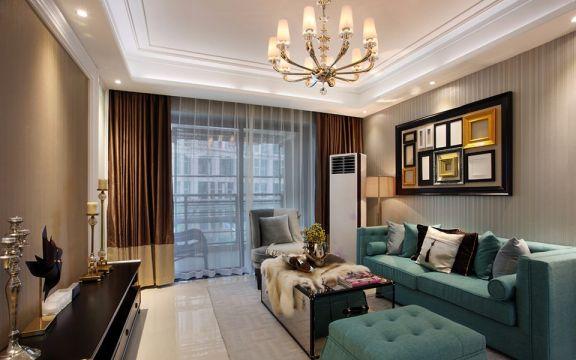 新古典风格70平米2房2厅房子装饰效果图