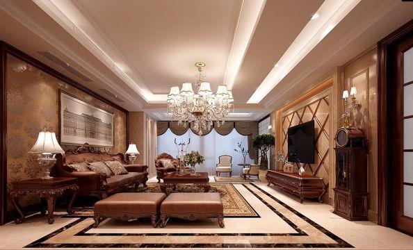 欧式风格180平米3房2厅房子装饰效果图