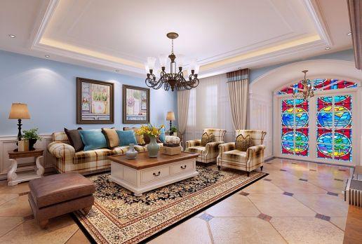 230平地中海风格四室两厅装修效果图