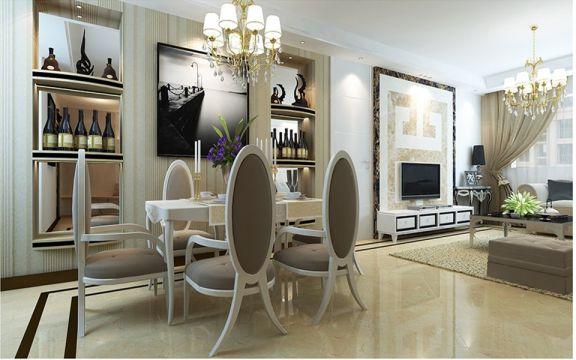 后现代风格140平米四室两厅室内装修效果图