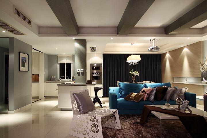 现代简约风格124平米四室两厅室内装修效果图