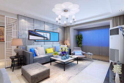 现代风格117平米三室一厅新房装修效果图