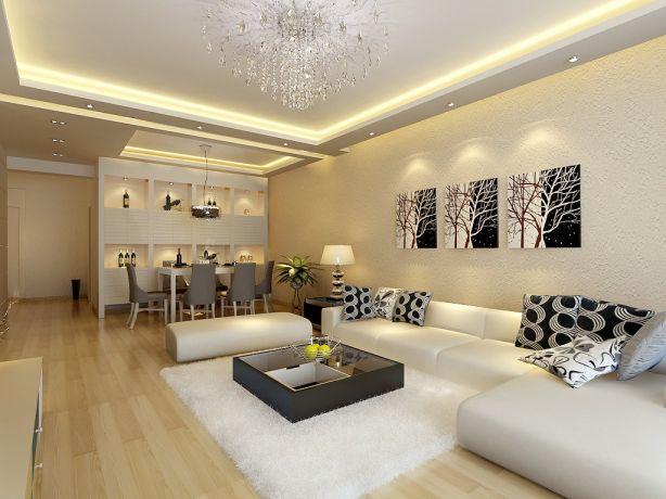 6万预算150平米三室两厅装修效果图