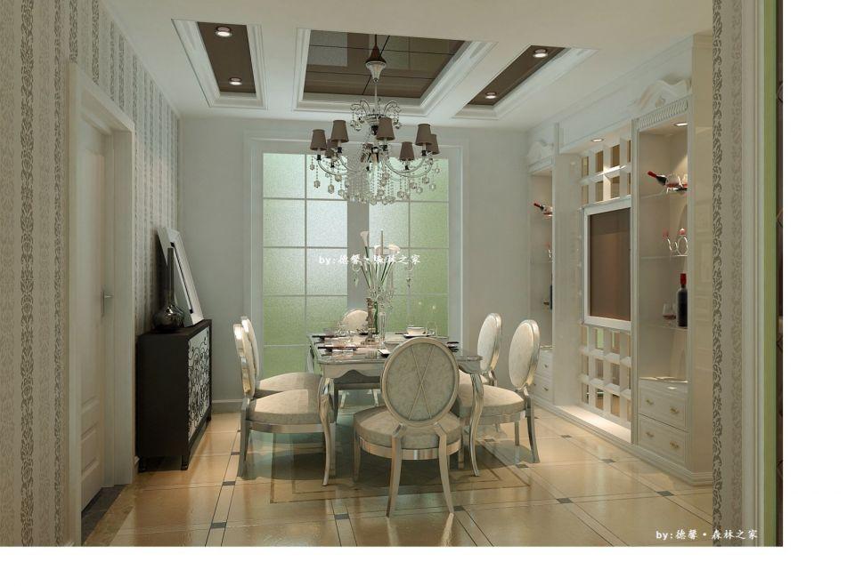 250平米欧式风格复式楼房装修效果图