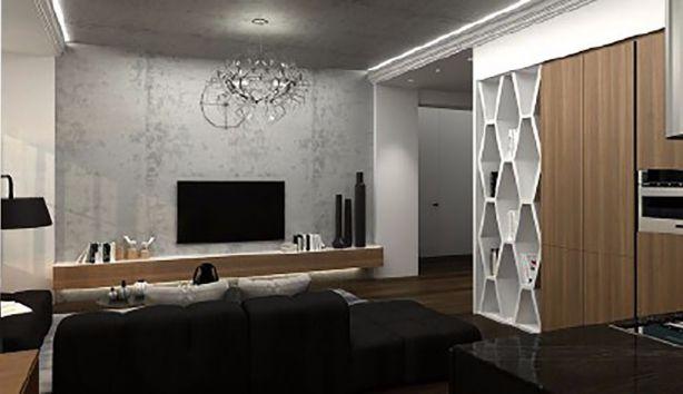 60平现代简约风格两居室装修效果图