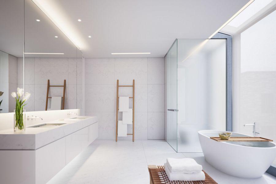卫生间白色洗漱台欧式风格效果图