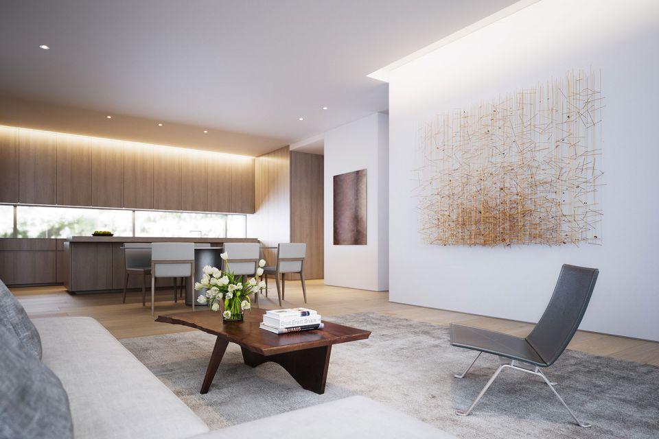 客厅咖啡色茶几欧式风格装饰效果图