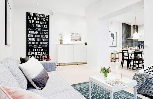 客厅白色茶几现代简约风格装饰图片