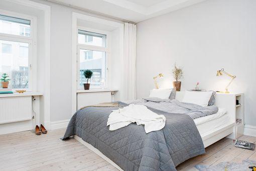 卧室白色床现代简约风格装饰效果图