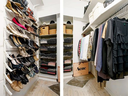 衣帽间咖啡色地板砖现代简约风格装修图片