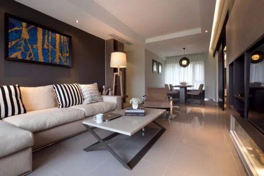 75平现代简约风格三居室装修效果图