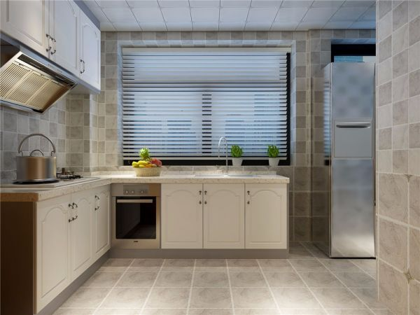 厨房橱柜北欧风格装潢图片