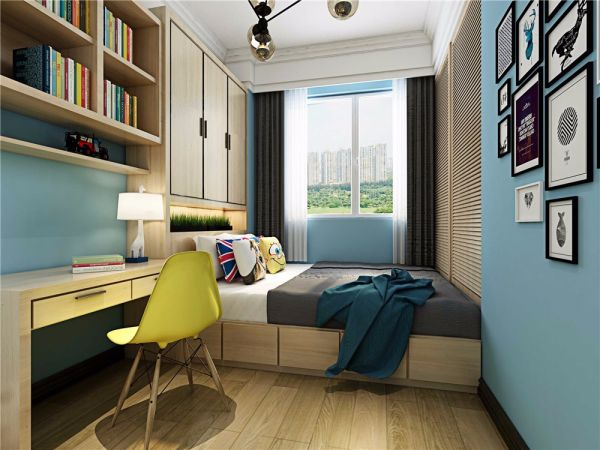 儿童房榻榻米北欧风格装修设计图片