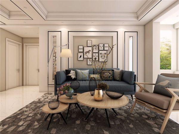 客厅沙发北欧风格装饰设计图片