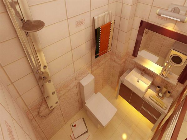 卫生间洗漱台北欧风格效果图