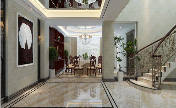 客厅楼梯欧式风格装修效果图
