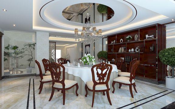 欧式风格200平米别墅新房装修效果图