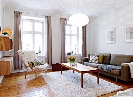 北欧风格106平米三室两厅新房装修效果图