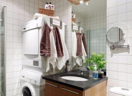 卫生间洗漱台北欧风格装饰设计图片