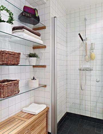 卫生间地砖北欧风格装潢设计图片
