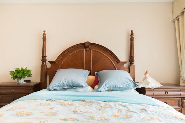 卧室床头柜美式风格装饰图片