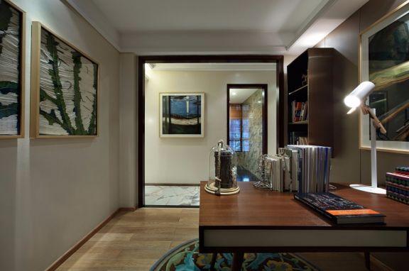 书房书桌北欧风格装饰设计图片