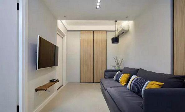 简约风格48平米两室两厅新房装修效果图