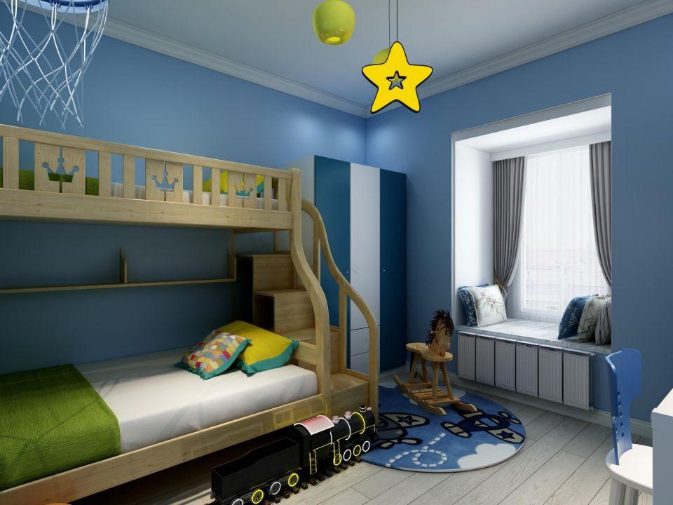 120后现代风格3居室装修效果图