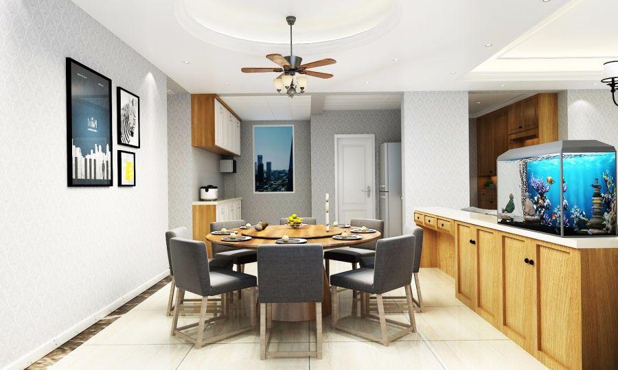 15万预算160平米三室两厅装修效果图