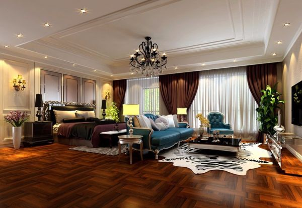 法式风格238平米别墅室内装修效果图