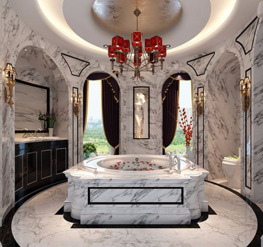 浴室浴缸法式风格装潢图片