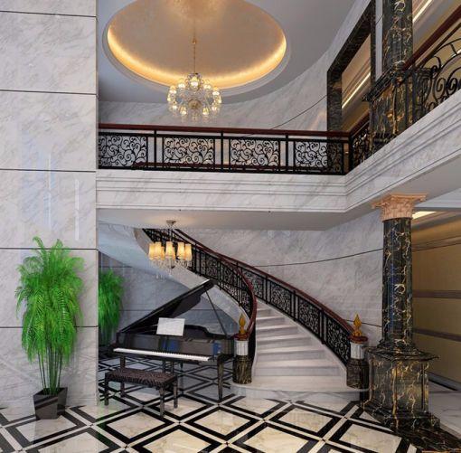客厅楼梯法式风格装饰设计图片
