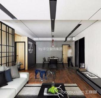 120平米汉北玺园两居室极简风格装修效果图