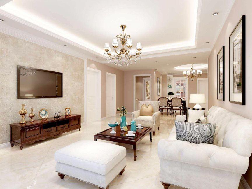 7.3万预算95平米两室两厅装修效果图