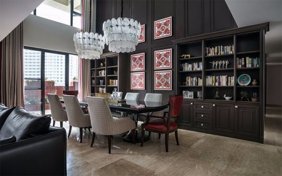 现代简约风格115平米四室两厅新房装修效果图